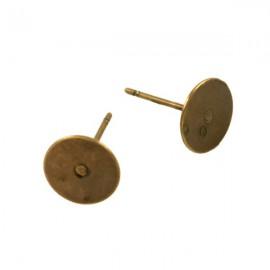 Oorsteker Plaksteen 8mm Brons