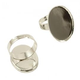 Ring Zilver voor 18x25mm Plaksteen