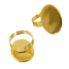 Ring Goud voor 18x25mm Plaksteen