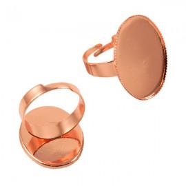Ring Rosé Goud voor 18x25mm Plaksteen