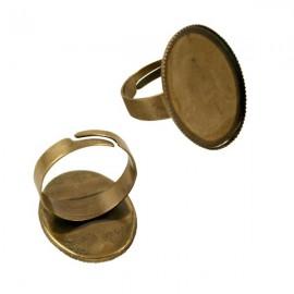Ring Rosé Brons voor 18x25mm Plaksteen