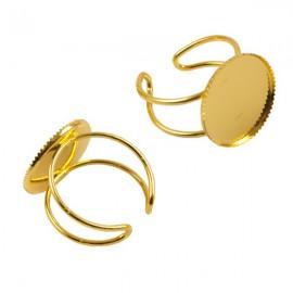 Ring Goud voor 18mm Plaksteen