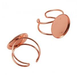 Ring Rosé Goud voor 18mm Plaksteen