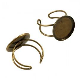 Ring Brons voor 18mm Plaksteen