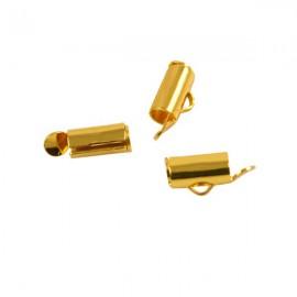 Eindklem Buisje 10x6mm Goud