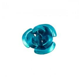 Roosje Metaal 12mm Turquoise
