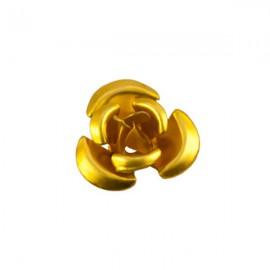Roosje Metaal 12mm Geel