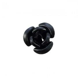 Roosje Metaal 12mm Zwart