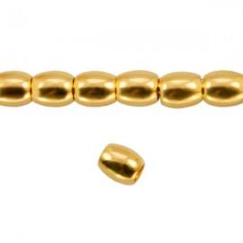 Metaal Ovaal 4,5x4mm Goud