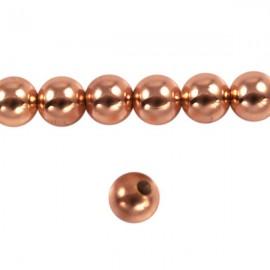 Metaal Rond 6mm Rosé Goud