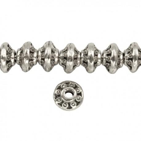 Metaal Bewerkt 7x5mm Antiek Zilver