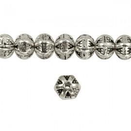Metaal Bewerkt 6x5mm Antiek Zilver