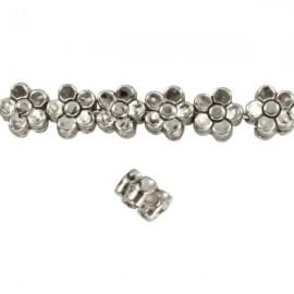 Metalen Kraal Bloem 5mm Antiek Zilver
