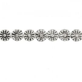 Metalen Kraal Daisy 5mm Antiek Zilver