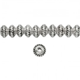 Metalen Kraal Spacer 5mm Antiek Zilver