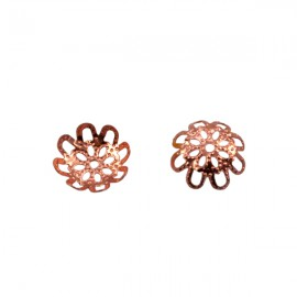 Kralenkapje Filigraan 10mm Rosé Goud
