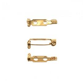 Brochespeld 19mm Goud