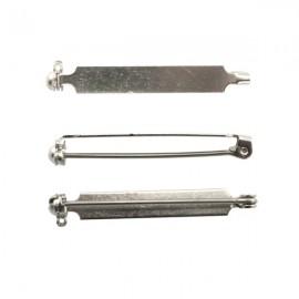 Brochespeld 38mm Zilver