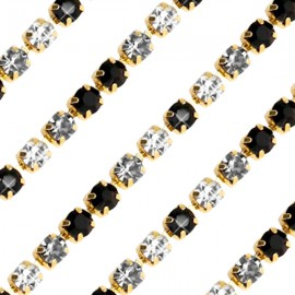 Cupchain G - 3mm Black Crystal Mix