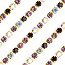 Cupchain G - 3mm Amethyst Mix