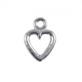 Bedel Hartje 19mm Antiek Zilver