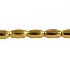 Metaal Ovaal 7,5x4mm Goud