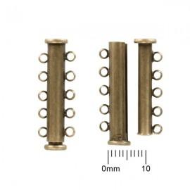 Schuifslotje Magnetisch 30mm 5-rij Brons