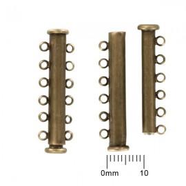 Schuifslotje Magnetisch 35mm 6-rij Brons