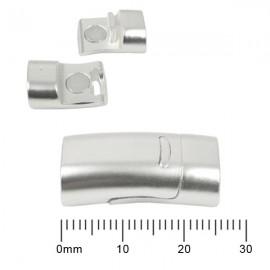 Magnetisch Slotje Mat Zilver 26x12,5mm