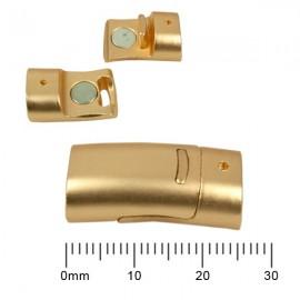 Magnetisch Slotje Mat Goud 26x12,5mm