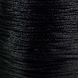 Satijnkoord 1,5mm Zwart