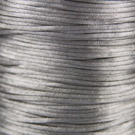 Satijnkoord 1,5mm Zilvergrijs