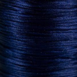 Satijnkoord 1,5mm Donkerblauw