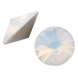 LC Rivoli 12mm White Opal