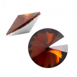 LC Rivoli 12mm Smoke Topaz Satin