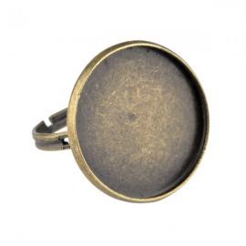 Ring Brons voor 20mm Plaksteen