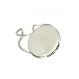 Ring Zilver voor 18mm Plaksteen