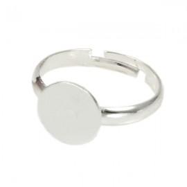 Ring Zilver met 10mm plakvlak