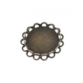 Hanger/ Tussenzetsel Brons voor 15mm Plaksteen