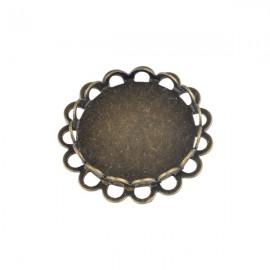 Hanger/ Tussenzetsel Brons voor 18mm Plaksteen
