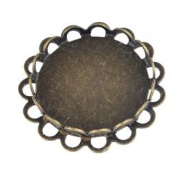 Hanger/ Tussenzetsel Brons voor 25mm Plaksteen