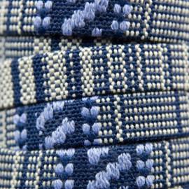 Aztec Koord Plat 10mm Blauw/Violet/Wit