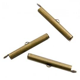 Eindklem Buisje 30x6mm Mat Antiek Goud