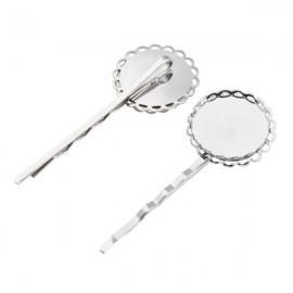 Schuifspeld Zilver met Kastje voor 20 mm Plaksteen