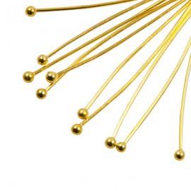Nietstift Bol 40mm Goud
