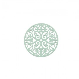 Bohemian Tussenzetsel Rond Licht Turquoise