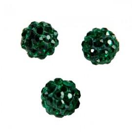 Polymeerkraal 10mm Donkergroen