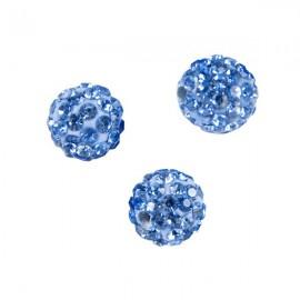 Polymeerkraal 10mm Blauw
