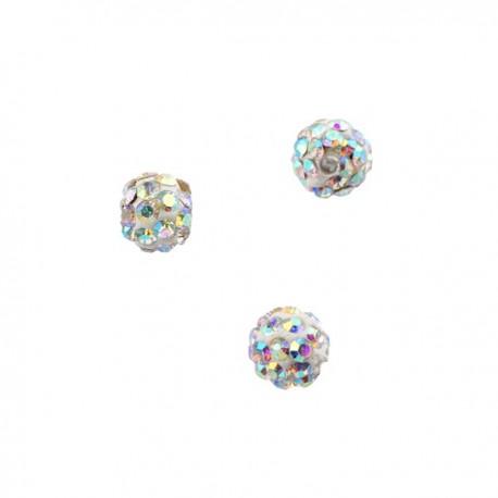 Polymeerkraal 6mm Crystal AB