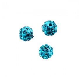 Polymeerkraal 6mm Turquoise Blue